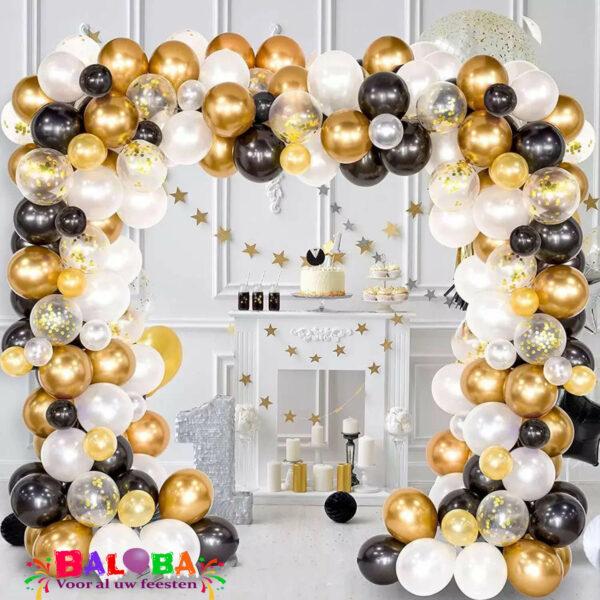 Ballonnenboog zwart, goud