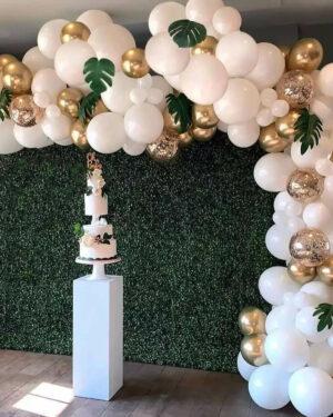 Ballonnenboog goud - wit