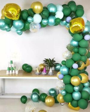 Ballonnenboog groen - goud