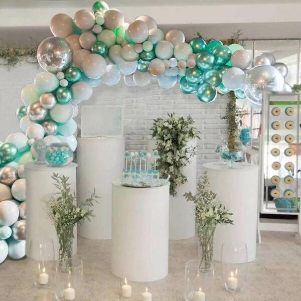 BallonnenBoog Groen Zilver Blauw