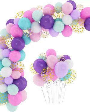 BallonnenBoog Paars, Roze, Lichtgroen, Goud
