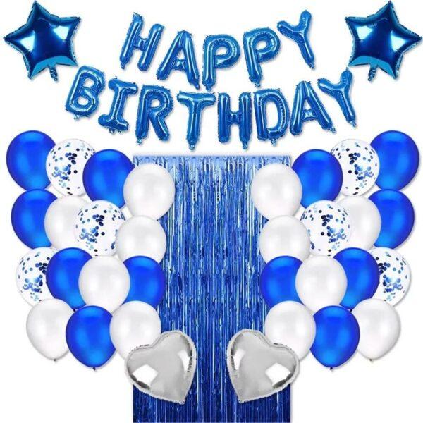 Blauw Wit Verjaardag Decoratie Set