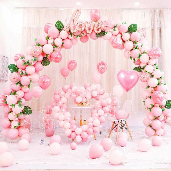 roze ballonnenboog