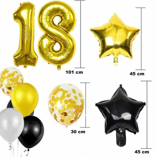 Luxe Black en Gold ballonnen en slingers van Baloba