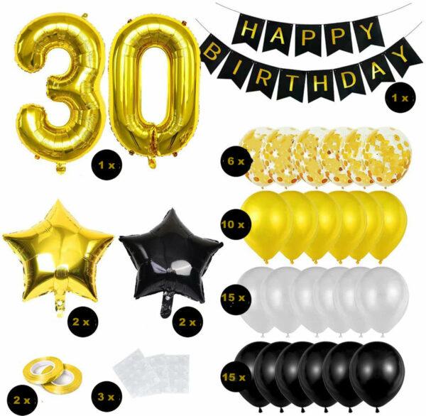 Luxe Black en Gold ballonnen en slingers