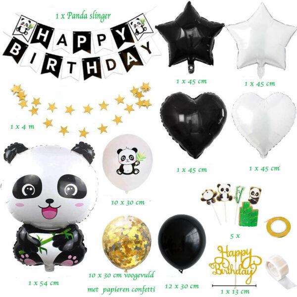 inhoud panda feestpakket