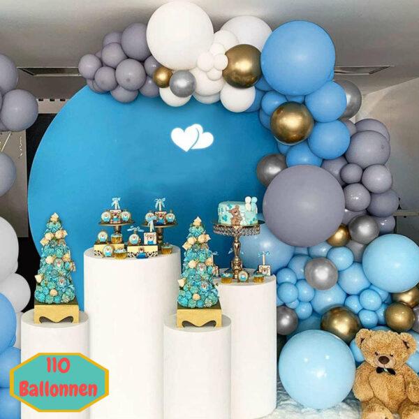 Ballonnenboog lichtblauw