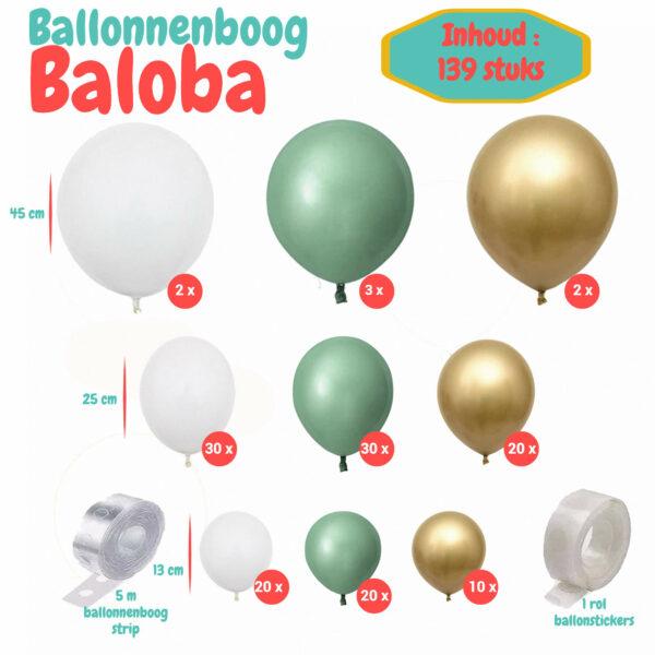 ballonnenboog groen
