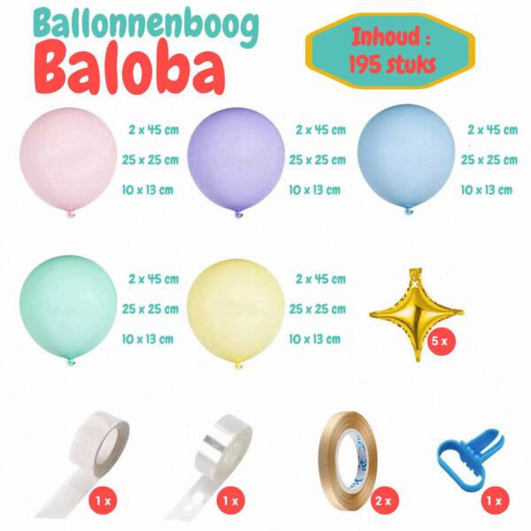 pastel ballonnenboog